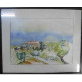 Obraz - Akvarel - Hacienda - Peter Treciak