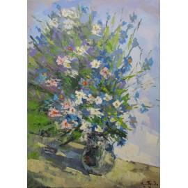 Obraz - Olejomaľba - Poľné kvety - Akad. mal. Varuzhan Aghamyan