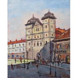 Obraz - Olejomaľba - Premonštrátsky kostol - Akad. mal. Varuzhan Aghamyan