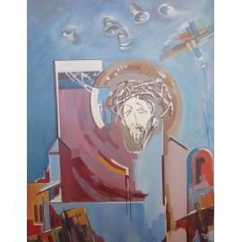 Obraz -Akryl na plátne -Zvony zvonia - Akad. mal. Varuzhan Aghamyan