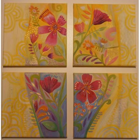 Obraz - Kompozícia s kvetmi