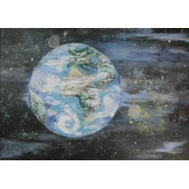 Obraz - Zem - Európa - Afrika - Bc. Helena Vožňáková