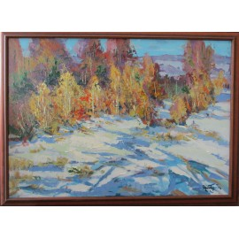 Obraz -Akryl na plátne -Posledný sneh - Akad. mal. Varuzhan Aghamyan