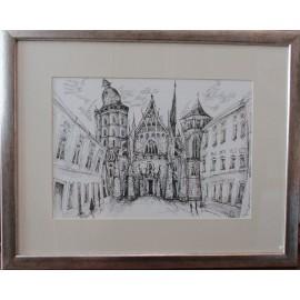 Obraz - kresba- Košice Mgr.Lucia Chocholáčková