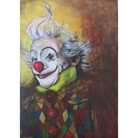 Obraz - Akryl -Šťastný klaun- Ing. Lujza Ferková
