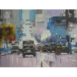 Obraz - Olejomaľba na plátne - Veľká ulica - Gregory Goy