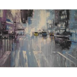 Obraz - Olejomaľba na plátne Večerný New York - Gregory Goy