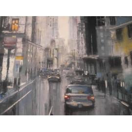 Obraz - Olejomaľba na plátne -Večerné mesto 2 - Gregory Goy
