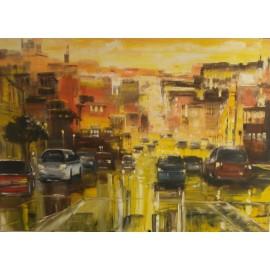 Obraz - Olejomaľba na plátne - Slnečný New York - Gregory Goy