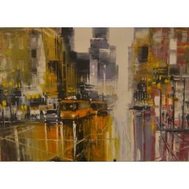 Obraz - Olejomaľba na plátne - Nočné mesto 1 - Gregory Goy