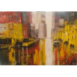 Obraz - Olejomaľba na plátne - Slnečné mesto 1 - Gregory Goy