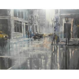 Obraz - Olejomaľba na plátne - Ulica v tme - Gregory Goy