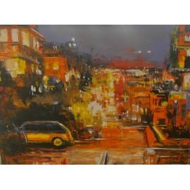 Obraz - Olejomaľba na plátne - Nočný život - Gregory Goy