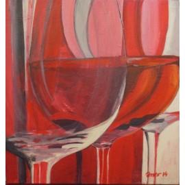 Obraz - Akryl na plátne - Víno II. - Ivónia Neveziová