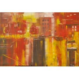 Obraz - Olejomaľba na plátne - Slnečné mesto 2 - Gregory Goy