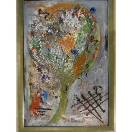 Strom - Ručne maľovaný obraz