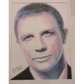 Obraz - kresba -Daniel Craig- Silvia Lasák
