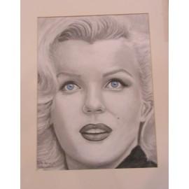 Obraz - kresba -Marilyn Monroe- Silvia Lasák