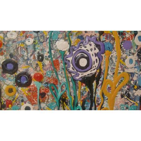 Obraz - Komb. tech. - Farebná mozaika - Katarína Haraksimová