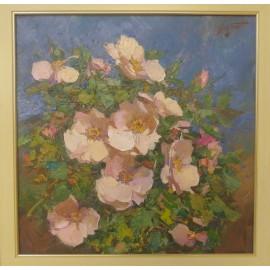 Obraz - Olejomaľba na plátne - Ruže - akad. mal. Timour Karimov