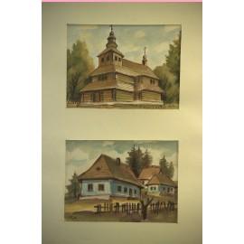 Obraz - Kombinovaná technika - Dedina III - Andrej Račko