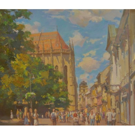 Obraz - Olejomaľba - Košice Kostol sv. Alžbety - akad. mal. Timour Karimov