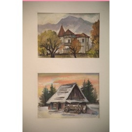 Obraz - Kombinovaná technika - Stavby v ročnom období - Andrej Račko