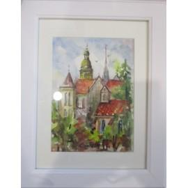 Obraz - Akvarel- Košice 2019 č.94- Mária Lenárdová