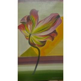 Obraz - Olejomaľba na plátne - Tulipán - PhDr. Katarína Semanová