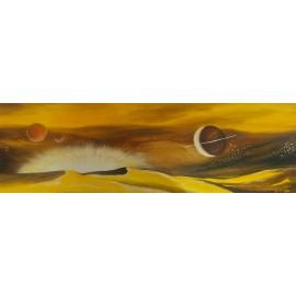 Obraz - Olejomaľba na plátne - Planéty - PhDr. Katarína Semanová