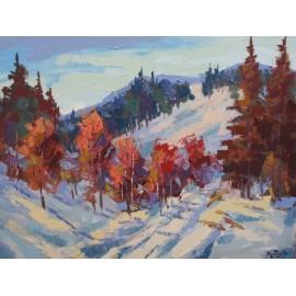Obraz olej.na plátne -Zima v Tatrách- Akad. mal. Varuzhan Aghamyan