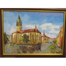 Obraz olej.na plátne -Prešov 2 Akad. mal. Varuzhan Aghamyan