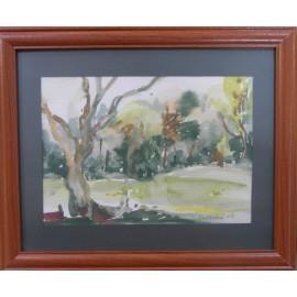 Obraz - Akvarel - Suchý strom - Mgr. Margita Rešovská