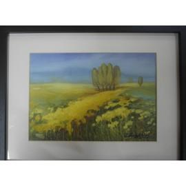 Obraz - Akryl - Jozef Onduš - Krajina v žltom