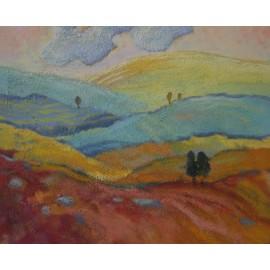 Obraz - olejomaľba - Jozef Onduš -Farebná krajina