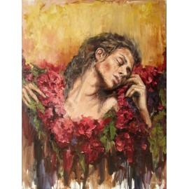 Obraz - Olejomaľba - Dáma v kvetinách - Igor Navrotskyi
