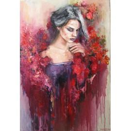 Obraz - Olejomaľba - Girl in flowers - Igor Navrotskyi