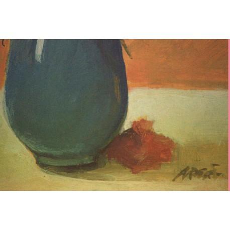 Obraz - Kytica v modrej váze