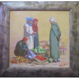 Obraz - Olejomaľba - Scéna Maroko - akad. mal. Timour Karimov