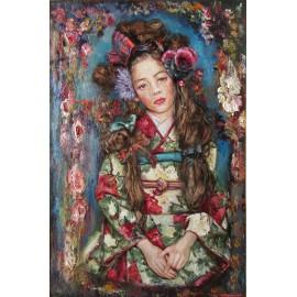 Obraz - Olejomaľba - Dievča v kimone - Igor Navrotskyi