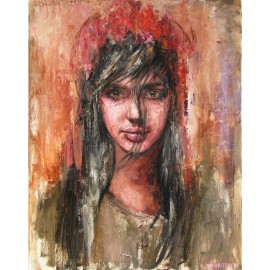 Obraz - Olejomaľba - Dievča z východu - Igor Navrotskyi