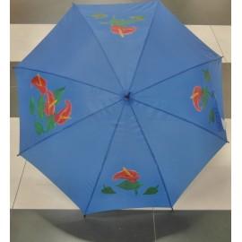 Dáždnik - ručne maľovaný , handmade, modrý