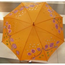 Dáždnik - ručne maľovaný , handmade, orandžový