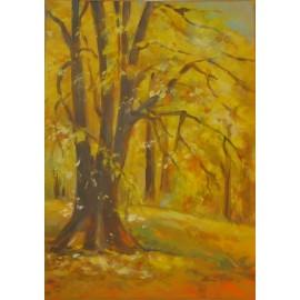 Obraz - Akryl na plátne - Farebná jeseň - Mária Lenárdová