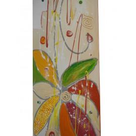 Obraz - Kombinovaná technika - Farebný kvet - Katarína Haraksimová
