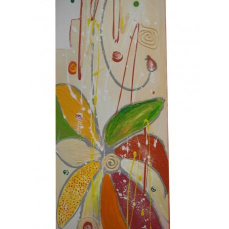 Farebný kvet - Ručne maľovaný obraz