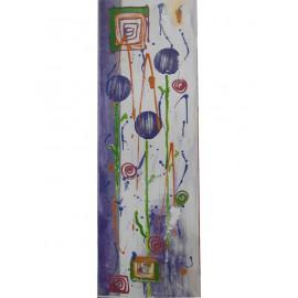 Fialové kvety - Ručne maľovaný obraz