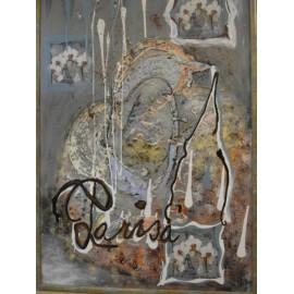 Abstrakt 2. - Ručne maľovaný obraz