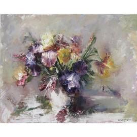 Obraz - Olejomaľba -Zátišie- Kvety vo váze, Igor Navrotskyi