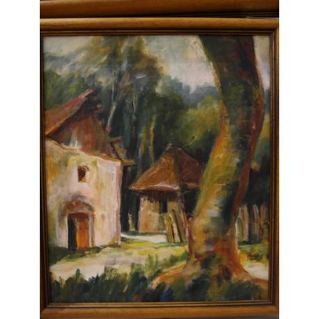 Starý strom - ručne maľovaný obraz